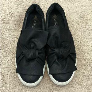 J/Slides NYC black slip on shoes